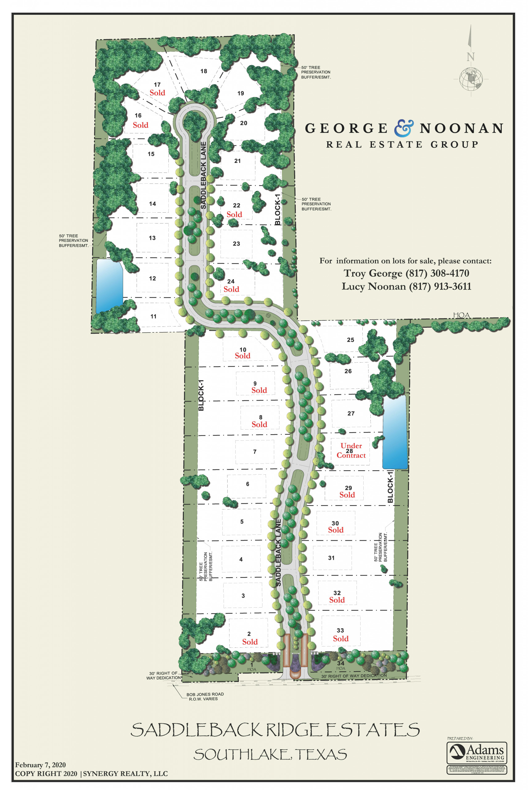 Saddleback Ridge Estates Map
